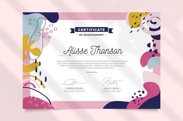 Certificat professionnel de modèle moderne