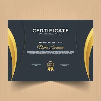 Certificat de réalisation design moderne