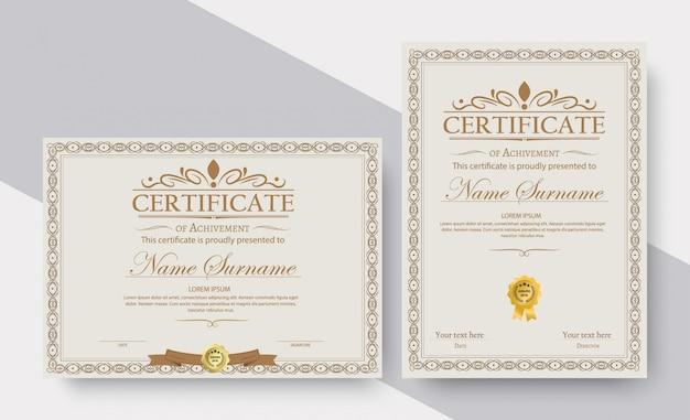 Certificat de réalisation modèle en vecteur