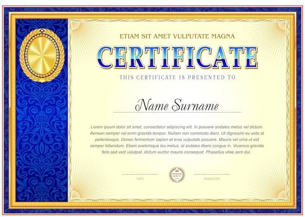 Certificat de réalisation modèle vierge.