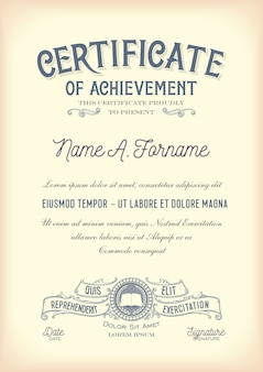 Certificat de réussite. ancien. portrait.