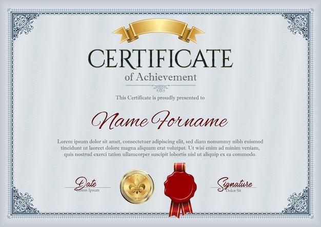 Certificat de réussite cadre vintage
