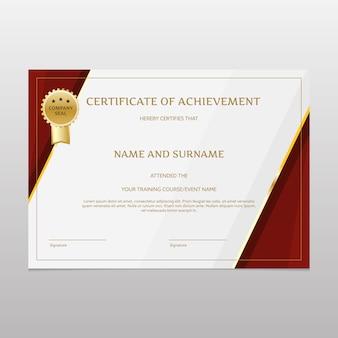Certificat de réussite de luxe
