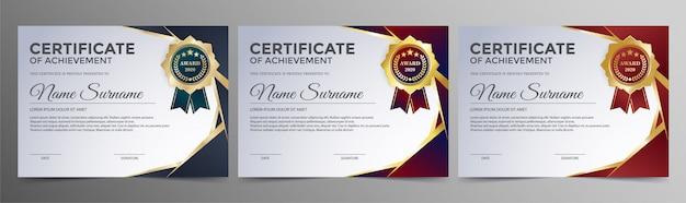 Certificat De Réussite Meilleur Diplôme Vecteur Premium