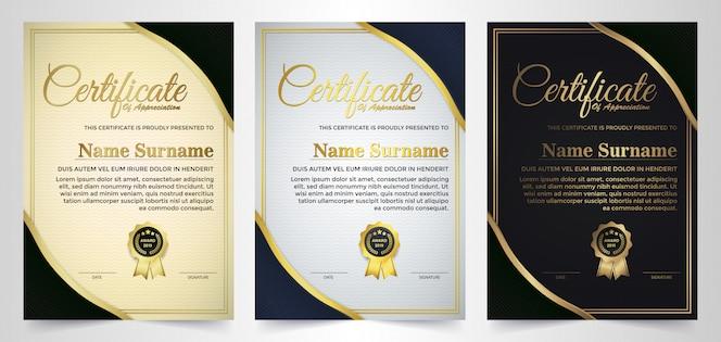 Certificat de réussite meilleur ensemble de diplômes.
