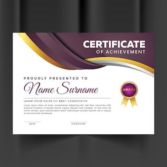 Certificat de réussite premium abstrait rose