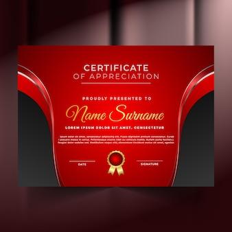Certificat de réussite premium abstrait unique