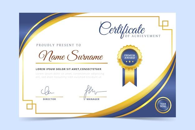 Certificat simple d'employé du mois