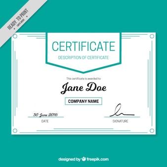 Certificat simple avec des lignes décoratives