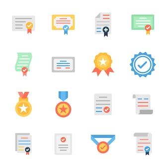 Certificat vérifié design plat