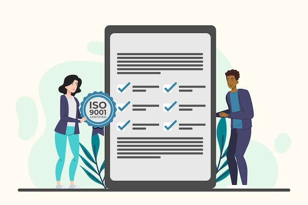 Certification iso 9001 avec feuilles