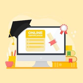 Certification en ligne illustrée à l'écran