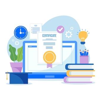 Certification en ligne avec des livres