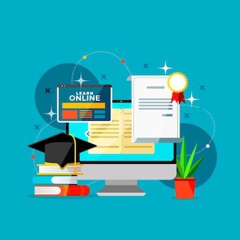 Certification en ligne avec ordinateur