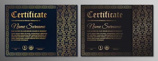 Certificats d'appréciation