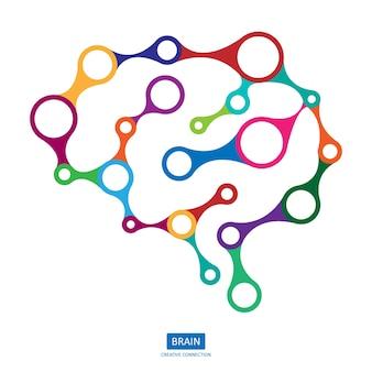 Cerveau de connexion multicolore