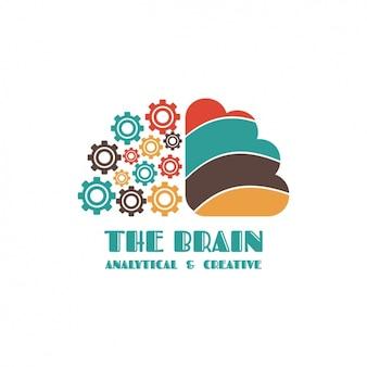 Cerveau forme logo modèle