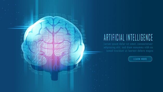 Cerveau d'intelligence artificielle futuriste