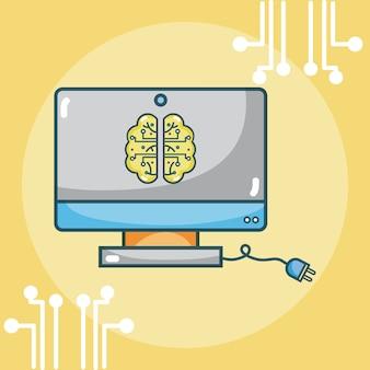 Cerveau d'intelligence artificielle