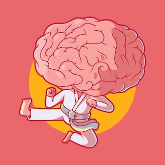 Cerveau De Karaté. Vecteur Premium