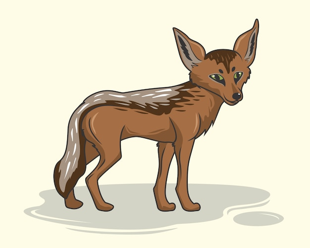 Chacal dessin animé animaux coyote loup chien sauvage