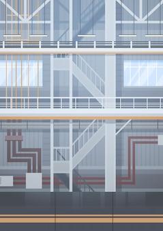 Chaîne de montage automatique de convoyeur d'usine vide concept d'industrie d'automatisation de machines