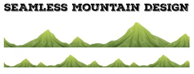 Chaîne de montagnes sans soudure