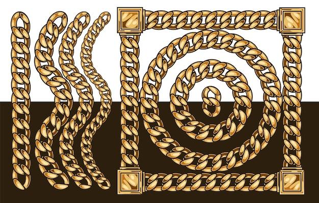 Chaîne en or élégante dans un style isolé