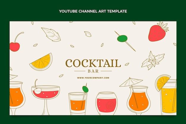 Chaîne youtube de bar à cocktails dessiné à la main