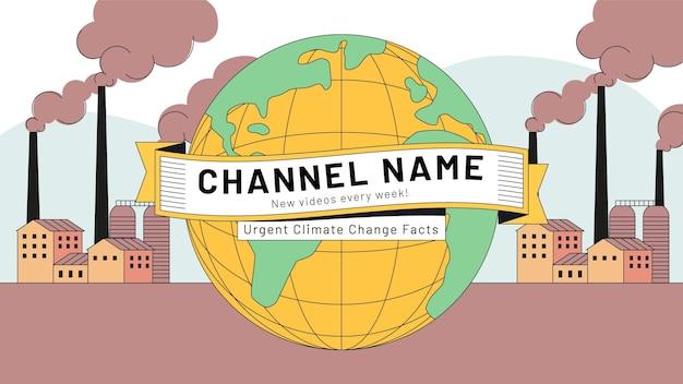 Chaîne youtube sur le changement climatique dessinée à la main