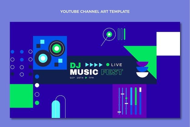 Chaîne youtube du festival de musique en mosaïque plate
