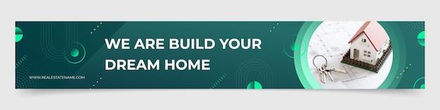 Chaîne youtube de l'immobilier géométrique au design plat