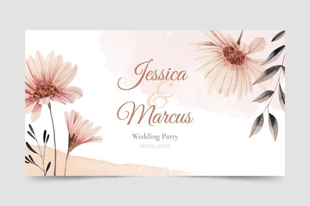 Chaîne youtube de mariage floral aquarelle