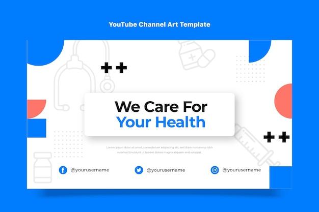 Chaîne youtube de soins médicaux au design plat