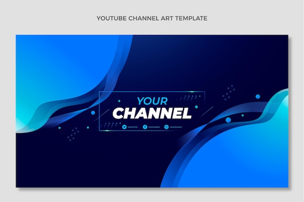 Chaîne youtube de technologie de fluide abstrait dégradé