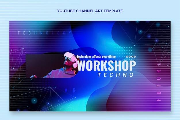 Chaîne youtube de technologie fluide abstraite