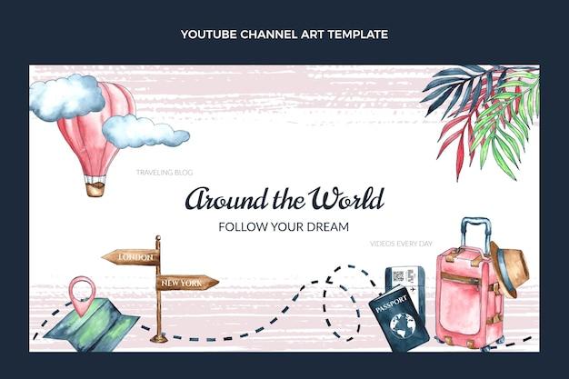 Chaîne youtube de voyage aquarelle