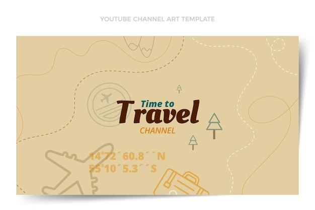 Chaîne youtube de voyage d'automne design plat