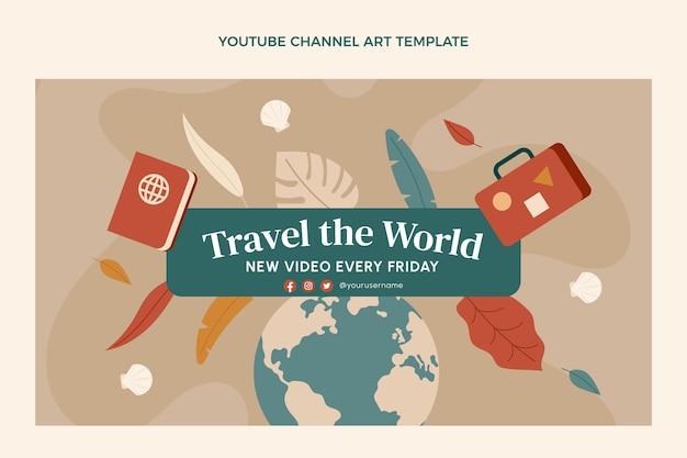 Chaîne youtube de voyage design plat