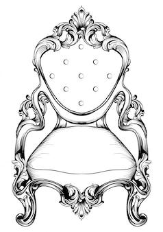 Chaise baroque avec des ornements luxueux