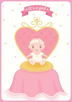 Chaise de bébé princesse gril de douche