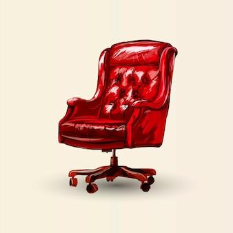 Chaise de bureau de vecteur.