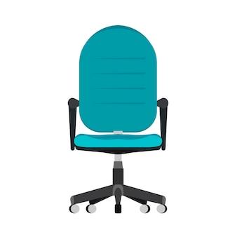 Chaise, bureau, vue frontale, illustration