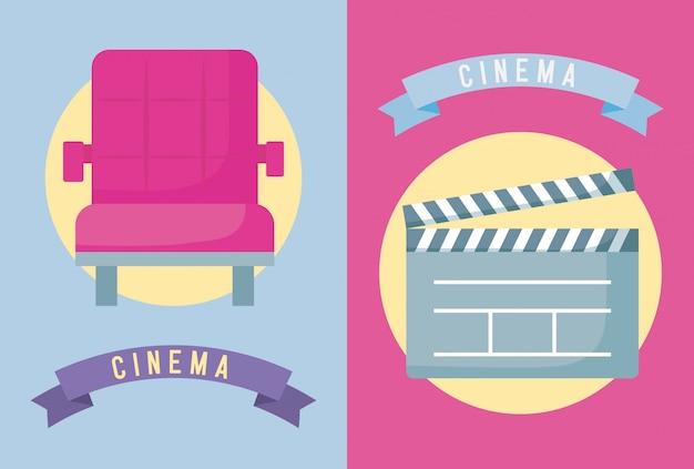 Chaise avec cinéma à clins