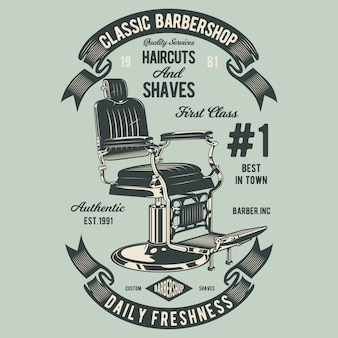 Chaise de coiffeur