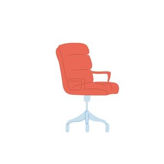 Chaise de dessin animé plat de vecteur isolé sur fond vide-meubles modernes, concept d'éléments d'intérieur de bureau et de maison, conception de bannière de site web