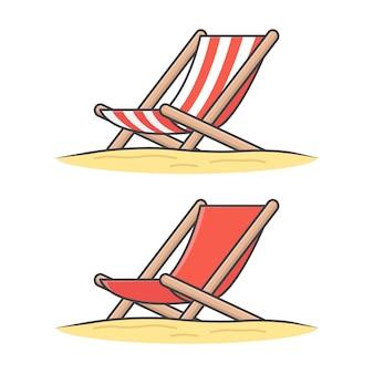Chaise longue en bois. chaise de plage en bois plat