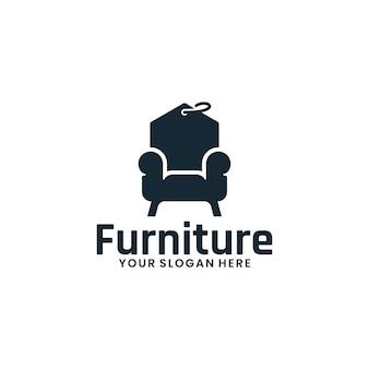 Chaise, meilleur prix, modèle de logo