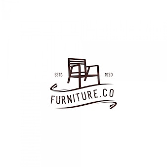 Chaise mobilier vintage logo