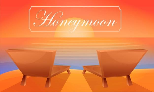 Chaise de plage lune de miel